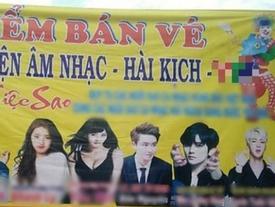 Fan phẫn nộ khi hình ảnh EXO - BTS bị sử dụng trái phép trên banner sự kiện 'Âm nhạc - Hài kịch'
