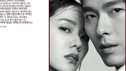Hai nhan sắc hàng đầu Hyun Bin và Son Ye Jin sánh đôi trên tạp chí