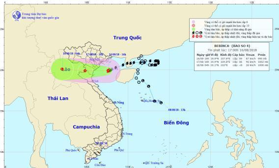 Bão số 4 giật cấp 12 tiến gần Nam Định-1