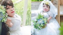Dân mạng xôn xao trước bộ ảnh cưới của cô dâu nặng 13 kg