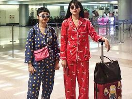 Có ai lầy hơn đôi bạn cùng tiến Kiều Trinh - Trang Hý: Rủ nhau mặc Pijama ra sân bay nhưng vẫn thấy vậy là hay