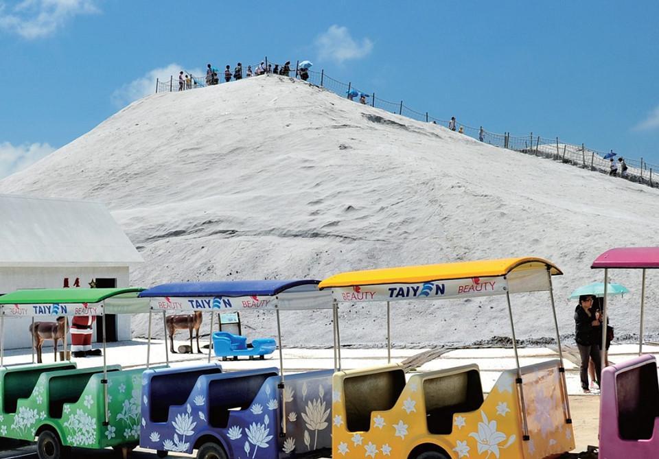 Chinh phục núi muối Thất Cổ trắng như tuyết ở Đài Loan-1