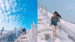 Chinh phục núi muối Thất Cổ trắng như tuyết ở Đài Loan