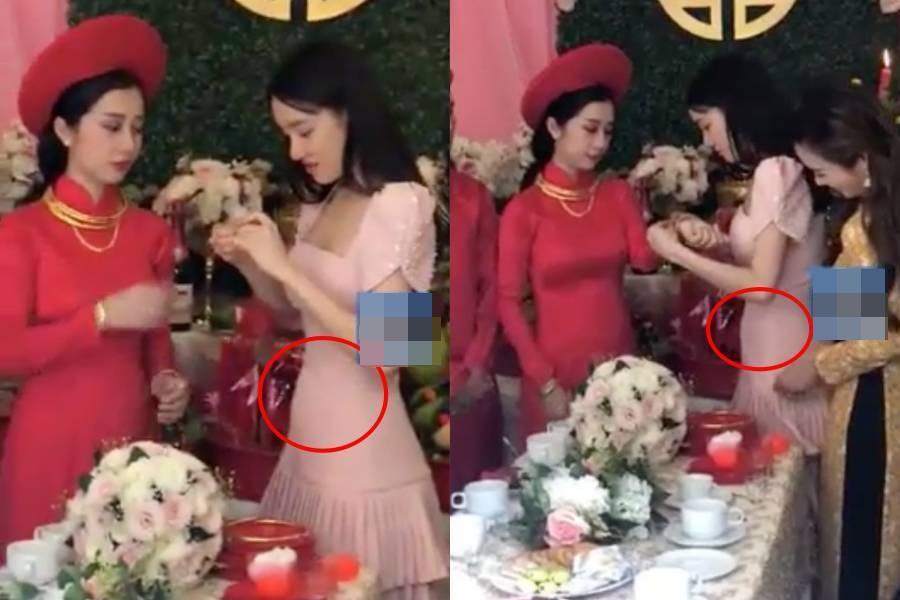 Trước Nhã Phương, nhiều mỹ nhân Việt cũng bị nghi cưới chạy bầu khi mặc áo cô dâu mà bụng lùm lùm-3
