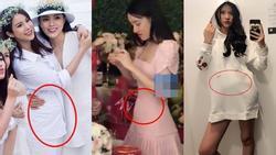 Trước Nhã Phương, nhiều mỹ nhân Việt cũng bị nghi 'cưới chạy bầu' khi mặc áo cô dâu mà bụng lùm lùm