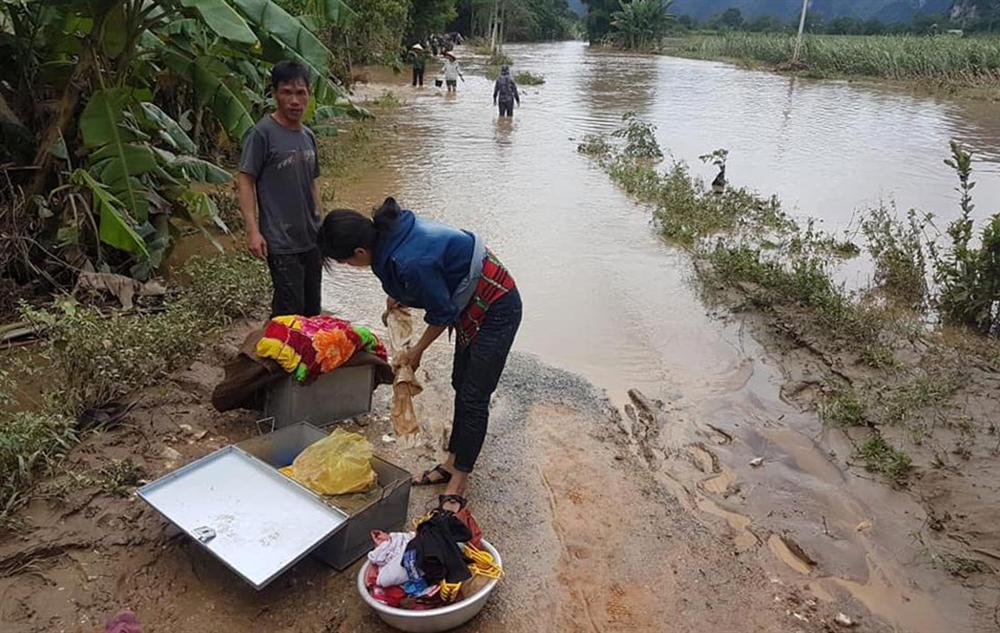 Nghệ An: Lũ chồng lũ, nhiều nơi vẫn ngập trong biển nước-4