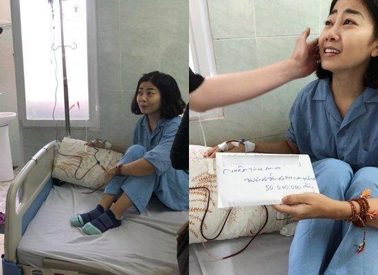 Mai Phương cười tươi lạc quan ở bệnh viện-6