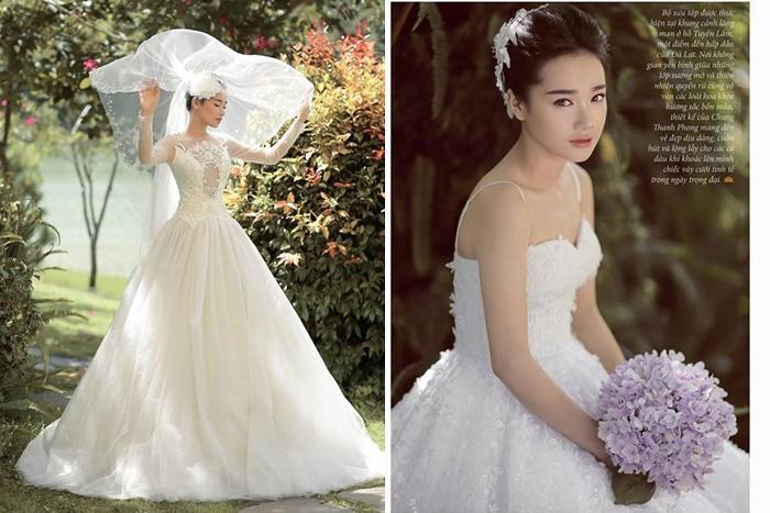 Ngắm Nhã Phương đẹp quên lối về trong những bộ váy cưới trước ngày theo Trường Giang về dinh-1