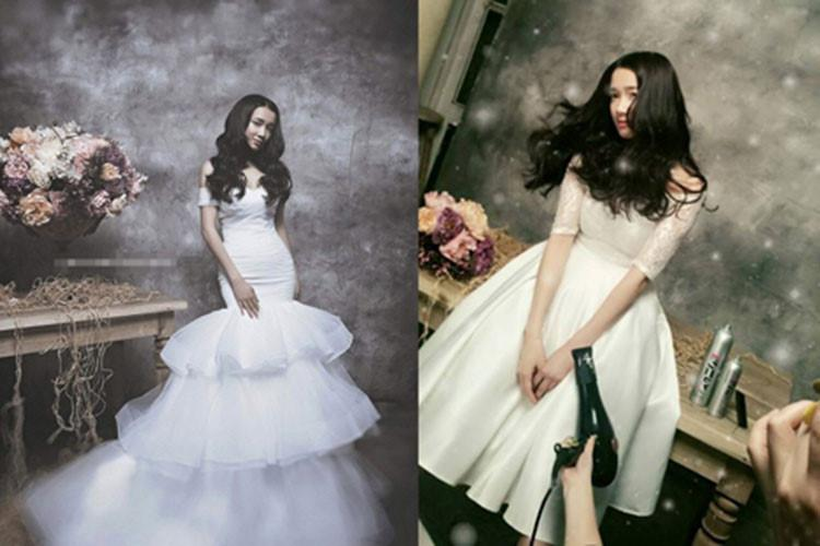 Ngắm Nhã Phương đẹp quên lối về trong những bộ váy cưới trước ngày theo Trường Giang về dinh-12