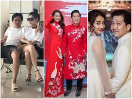 Gu thời trang 'tông xuyệt tông' từ yêu đến cưới của Trường Giang và Nhã Phương