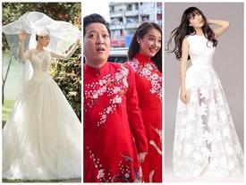 Ngắm Nhã Phương 'đẹp quên lối về' trong những bộ váy cưới trước ngày theo Trường Giang về dinh