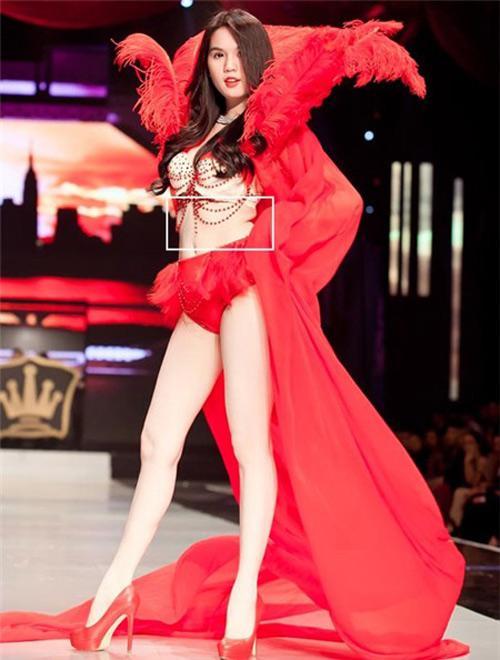 Sở hữu thân hình vệ nữ nhưng Hà Hồ, Ngọc Trinh lại thường xuyên bị váy áo tố giác vòng 2 như mang bầu-5