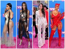 Dàn sao đua nhau mặc váy áo xuyên thấu trên thảm đỏ VMA 2018