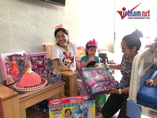 Mai Phương mừng sinh nhật con gái 5 tuổi ở bệnh viện-4