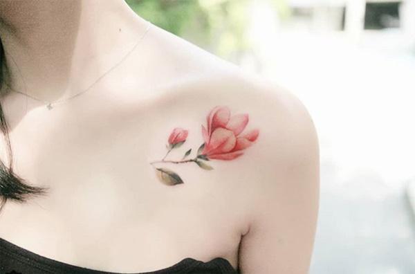 Phụ nữ Hàn đem cả vườn hoa lá lên ngực, đùi, hông...-7