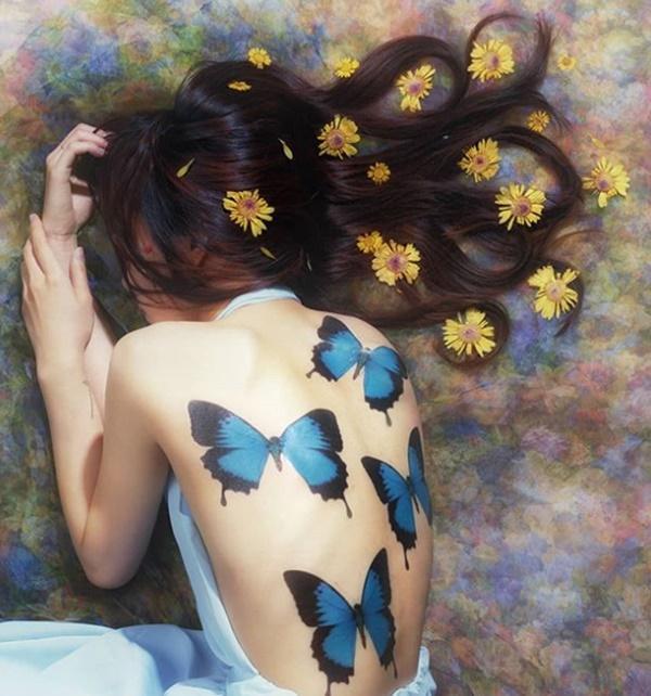 Phụ nữ Hàn đem cả vườn hoa lá lên ngực, đùi, hông...-12