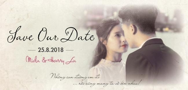 HOT: Lộ thiệp cưới in hình Midu và Harry Lu tổ chức ngày 25 /8 tới đây-1