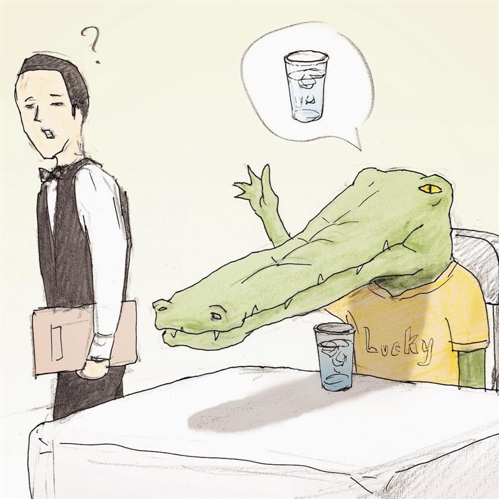 Bộ tranh: Cá sấu sẽ bi hài ra sao nếu sống như loài người?-6