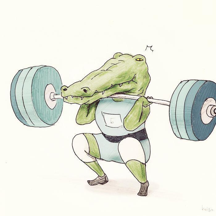 Bộ tranh: Cá sấu sẽ bi hài ra sao nếu sống như loài người?-13