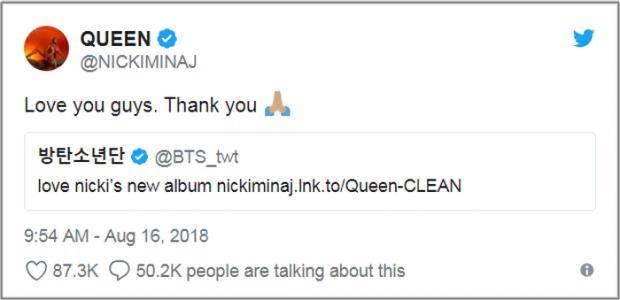 HOT: BTS xác nhận hợp tác cùng Nicki Minaj trong album mới Love Yourself :Answer-3