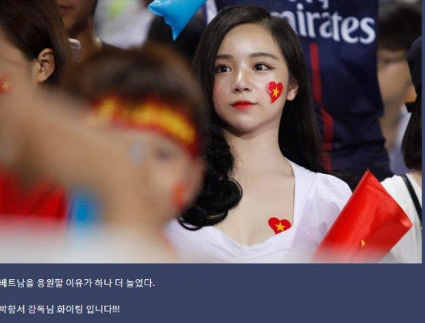 Báo Hàn phát cuồng trước vẻ đẹp nóng bỏng của 'hot girl ngủ gật' sau kỳ tích U23 Việt Nam-1