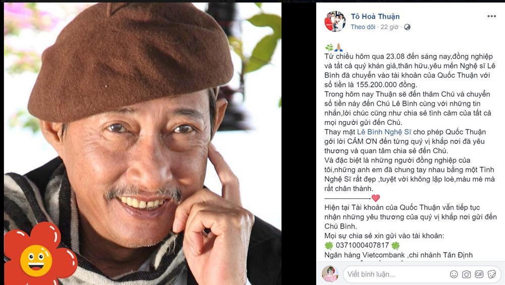 Nghệ sĩ Lê Bình xúc động khi gặp Mai Phương, được Quốc Thuận chuyển 155 triệu đồng-1