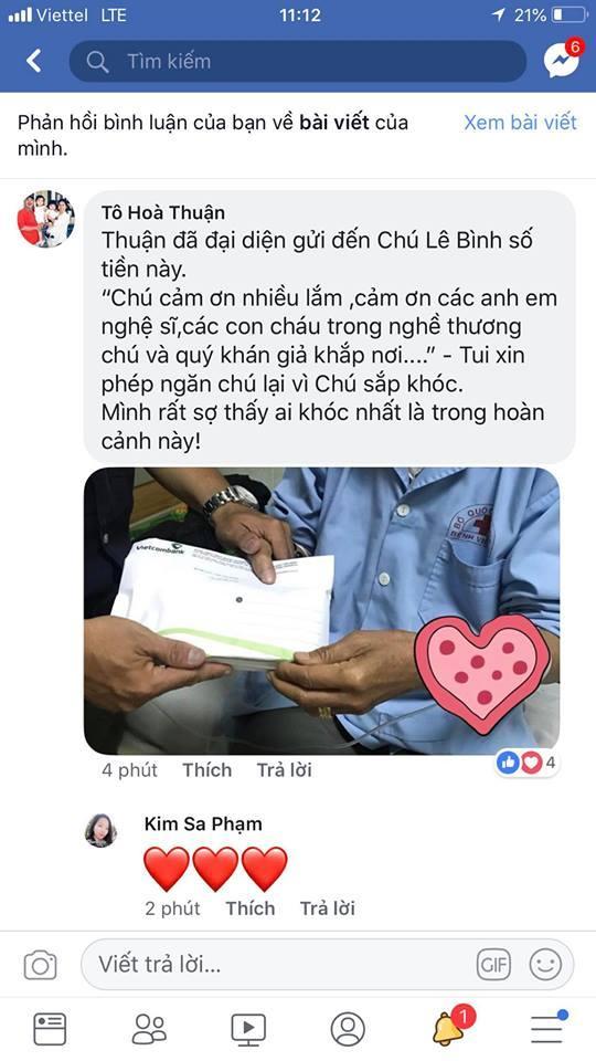 Nghệ sĩ Lê Bình xúc động khi gặp Mai Phương, được Quốc Thuận chuyển 155 triệu đồng-2