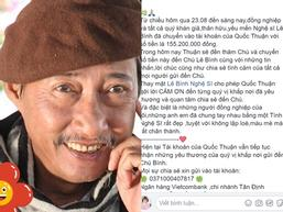 Nghệ sĩ Lê Bình xúc động khi gặp Mai Phương, được Quốc Thuận chuyển 155 triệu đồng