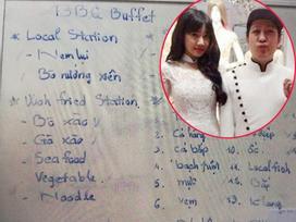 Trường Giang - Nhã Phương đính hôn bằng... nem lụi, thực đơn đám cưới sao Việt còn món gì đặc biệt?