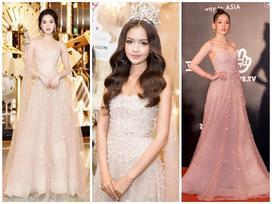 Ba mỹ nhân so kè trong mẫu đầm công chúa: Chi Pu thắng cuộc - Ngọc Trinh lộ miếng dán ngực - Ngọc Châu nhạt nhòa