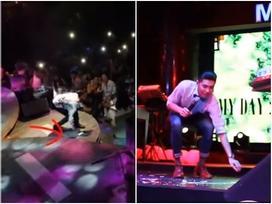 Bị chê làm màu nhưng không ít lần Noo Phước Thịnh đã xin phép khán giả được nhặt rác trên sân khấu