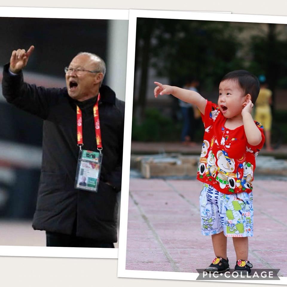 Cậu bé hot nhất mạng xã hội Việt hôm qua khi sở hữu loạt biểu cảm cực giống huấn luyện viên Park Hang Seo-11