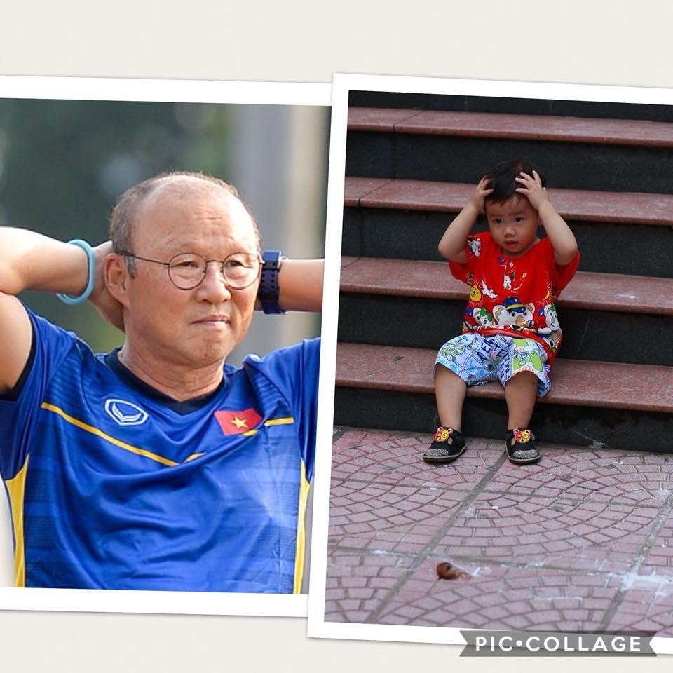 Cậu bé hot nhất mạng xã hội Việt hôm qua khi sở hữu loạt biểu cảm cực giống huấn luyện viên Park Hang Seo-5
