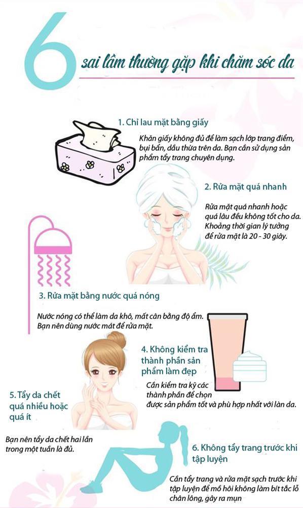 6 sai lầm thường gặp khi chăm sóc da-1