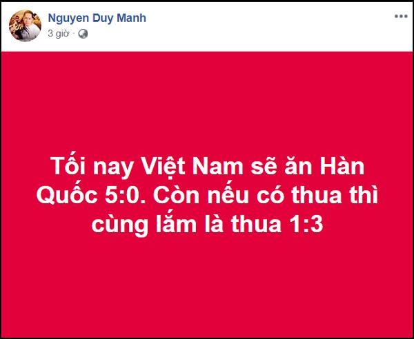 Phán chính xác U23 Việt Nam thua Hàn Quốc 1 - 3, Duy Mạnh bật mí bí kíp dự đoán đội nhà thua mà không bị chửi-2
