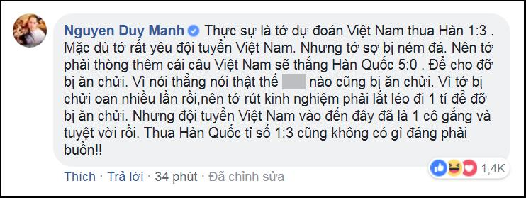 Phán chính xác U23 Việt Nam thua Hàn Quốc 1 - 3, Duy Mạnh bật mí bí kíp dự đoán đội nhà thua mà không bị chửi-3