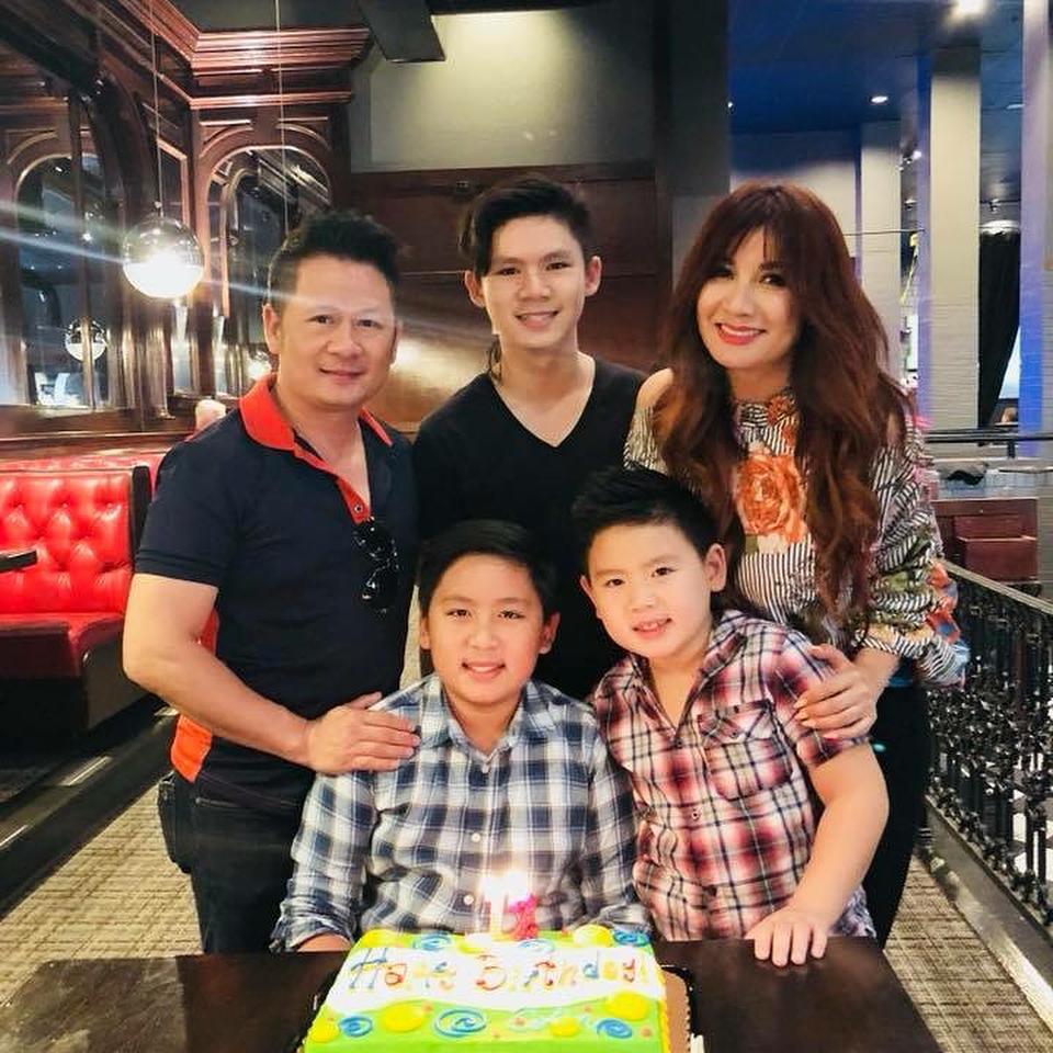 Bằng Kiều tái hợp với vợ cũ mừng sinh nhật con trai-1