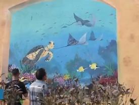 Làng bích họa mê hoặc du khách ở đảo Bé Lý Sơn