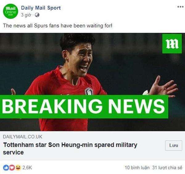 Truyền thông châu Âu nói gì sau màn trốn nghĩa vụ của Son Heung-min?-3