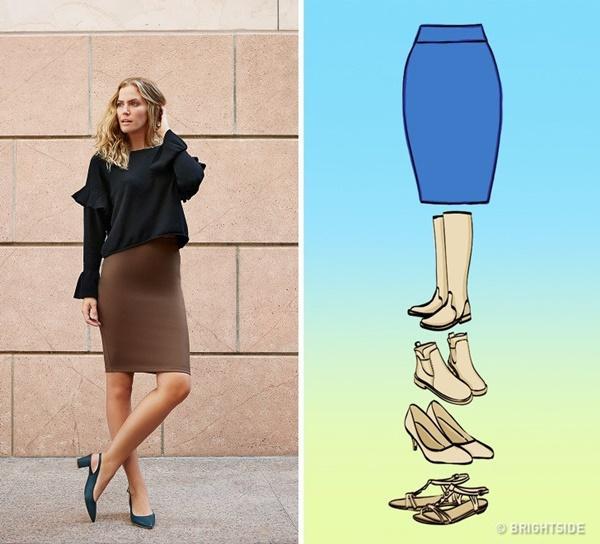 Cách kết hợp giày với 7 loại chân váy cơ bản-1
