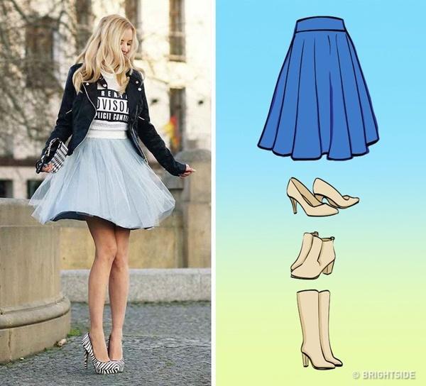 Cách kết hợp giày với 7 loại chân váy cơ bản-3