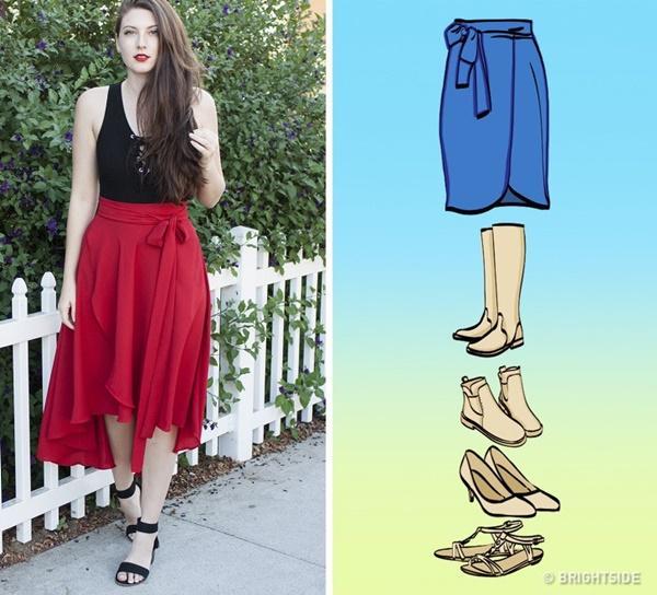 Cách kết hợp giày với 7 loại chân váy cơ bản-4