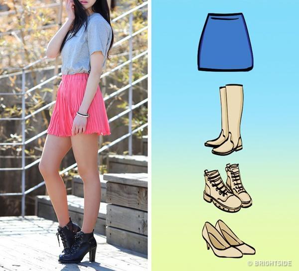 Cách kết hợp giày với 7 loại chân váy cơ bản-5