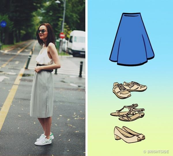Cách kết hợp giày với 7 loại chân váy cơ bản-6