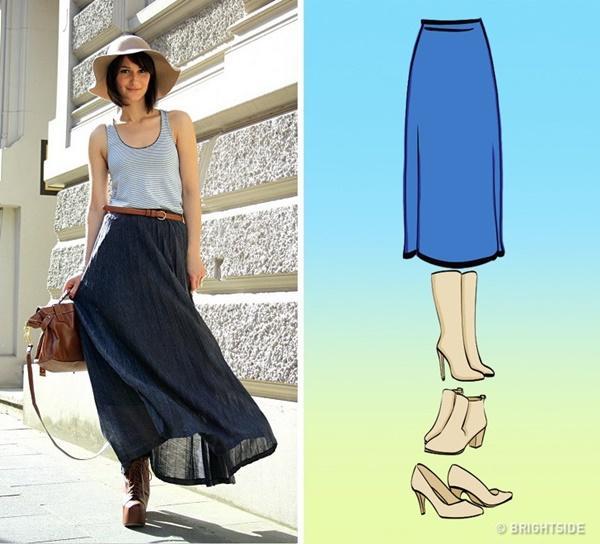 Cách kết hợp giày với 7 loại chân váy cơ bản-7