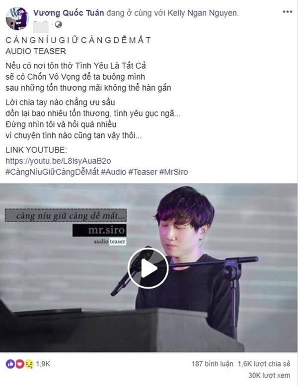 Tung ca khúc mới Càng níu giữ càng dễ mất  - Mr. Siro tiếp tục tạo trend trên MXH-1