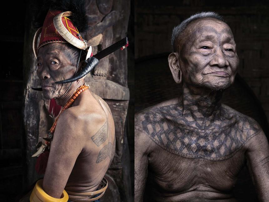 Hình xăm mờ, tục săn đầu người của bộ tộc Ấn Độ dần mai một