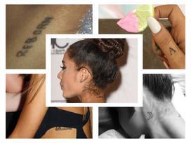 'Mắt tròn mắt dẹt' với bộ sưu tập hơn 20 hình xăm lớn nhỏ của Ariana Grande