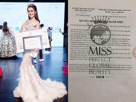 Không chỉ rơi ngôi Á hậu, Thư Dung tiếp tục bị tước vương miện Hoa hậu Sắc đẹp Hoàn mỹ 2017