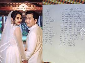 Gia đình Nhã Phương hé lộ danh sách khách mời cho tiệc cưới với Trường Giang